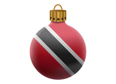 trinidad and tobago: trinidad and tobago christmas ball isolated