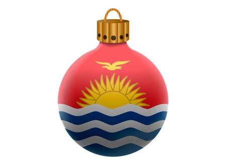 kiribati: kiribati christmas ball isolated