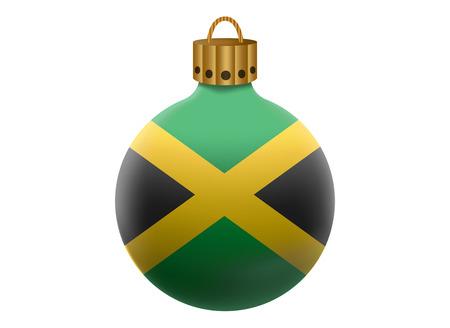 jamaica: jamaica christmas ball isolated