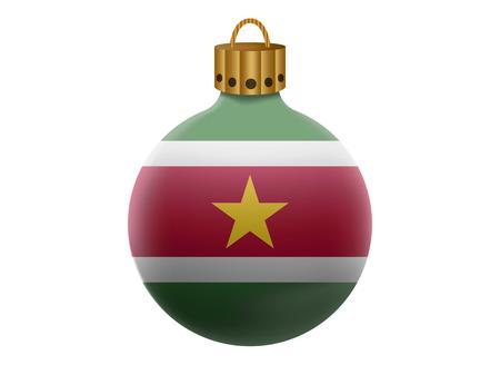 suriname: suriname christmas ball isolated