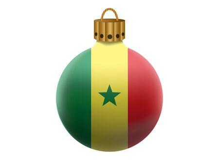 senegal: senegal christmas ball isolated
