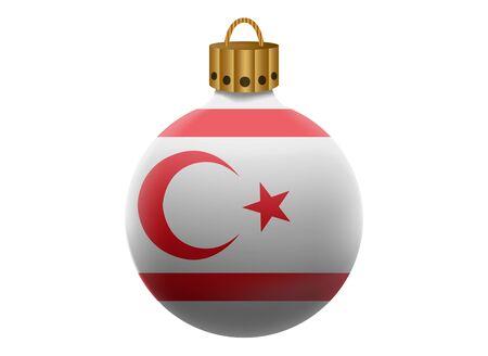 northern: northern cyprus christmas ball isolated