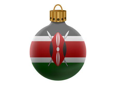 kenya: kenya christmas ball isolated