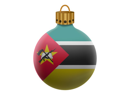 mozambique: mozambique christmas ball isolated