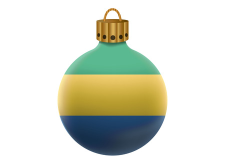 gabon: gabon christmas ball isolated