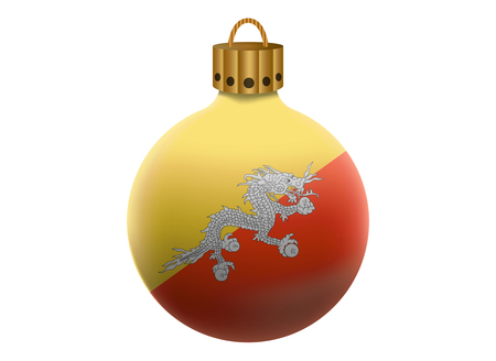 bhutan: bhutan christmas ball isolated