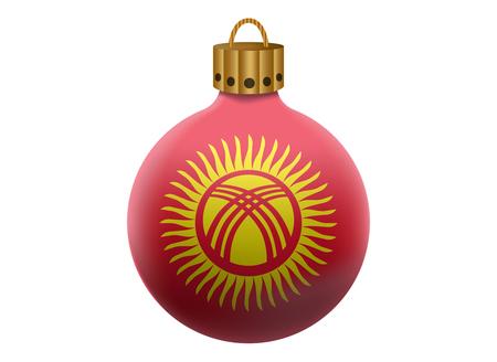 kyrgyzstan: bola de Navidad aislado kirguistan