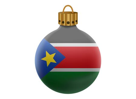 sudan: south sudan christmas ball isolated