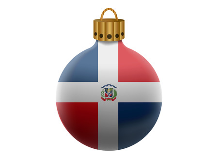dominican: dominican christmas ball isolated