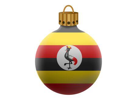 uganda: uganda christmas ball isolated Illustration