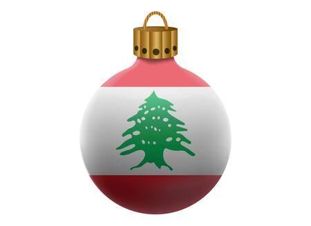 lebanon: lebanon christmas ball isolated Illustration