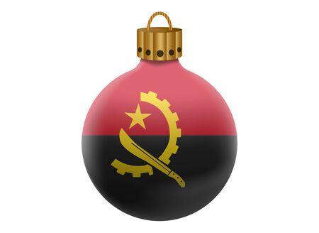angola: angola christmas ball isolated
