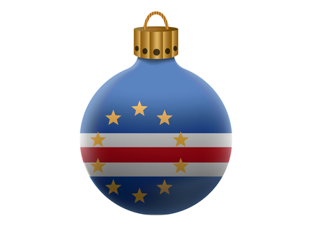 cape verde: cape verde christmas ball isolated