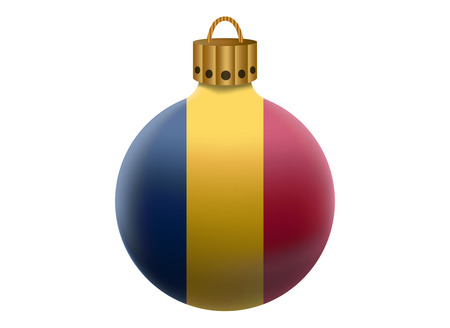 chad: chad christmas ball isolated