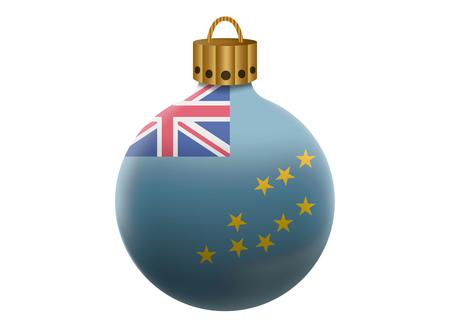tuvalu: tuvalu christmas ball isolated