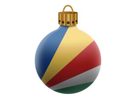 seychelles: seychelles christmas ball isolated Illustration