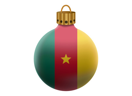cameroon: cameroon christmas ball isolated Illustration
