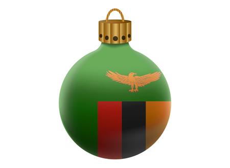 zambia: zambia christmas ball isolated