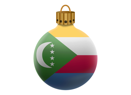 comoros: comoros christmas ball isolated