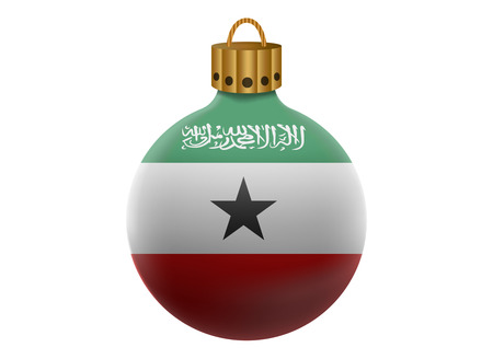 somaliland: somaliland christmas ball isolated