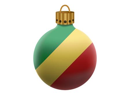 republic of the congo: republic congo christmas ball isolated