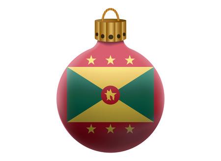 grenada: grenada christmas ball isolated