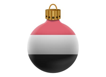 yemen: yemen christmas ball isolated