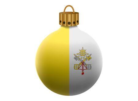 vatican city: vatican city christmas ball isolated