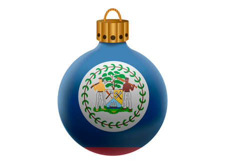 belize: belize christmas ball isolated Illustration