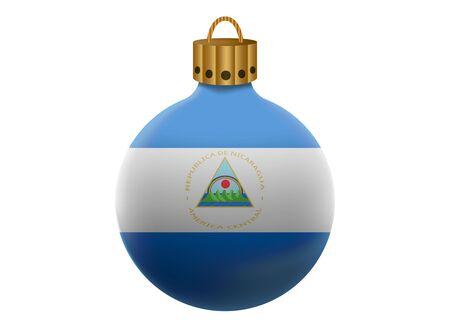 nicaragua: nicaragua christmas ball isolated