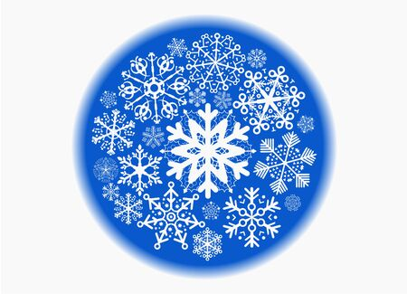blue sphere: blue sphere with snowflakes