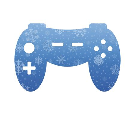 command: command console symbol christmas icon with snow Illustration