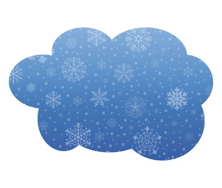 christmas icon: cloud christmas icon with snow Illustration