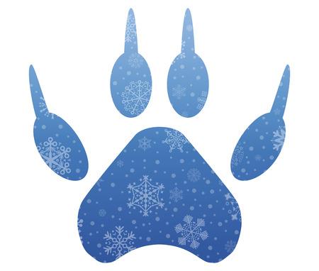 pisar: pisar icono de la Navidad con nieve