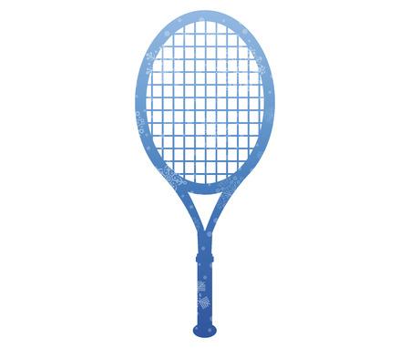 racket: racket christmas icon with snow Illustration