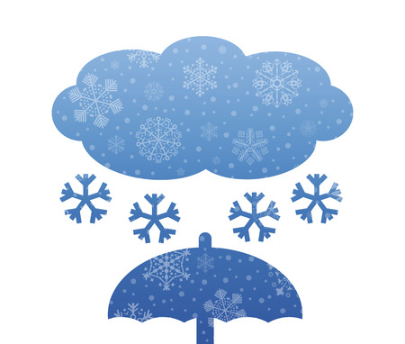 christmas snow: snow christmas icon with snow Illustration