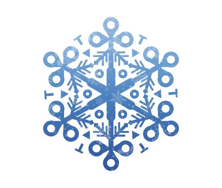 christmas snow: christmas icon with snow Illustration