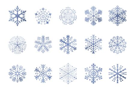 blue snowflakes: blue snowflakes made with triangles