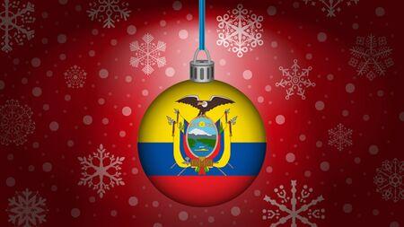 ecuador: christmas in ecuador Illustration
