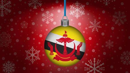 brunei: christmas in brunei Illustration