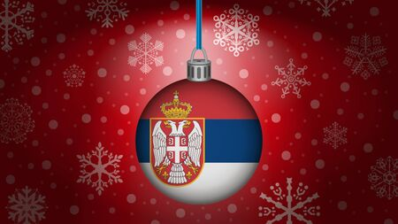 serbia: christmas in serbia Illustration