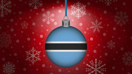botswana: christmas in botswana Illustration