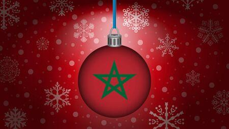 morocco: christmas in morocco Illustration