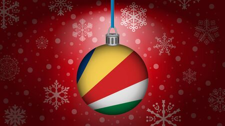 seychelles: christmas in seychelles Illustration