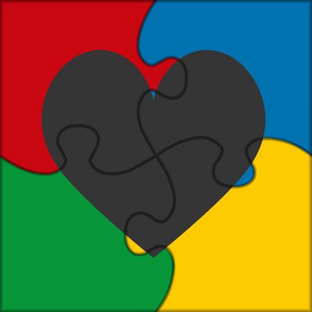 puzzle heart: puzzle icon heart