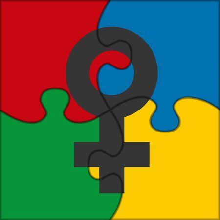 female symbol: puzzle icon female