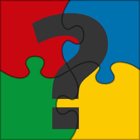 interrogation: puzzle icon question Illustration