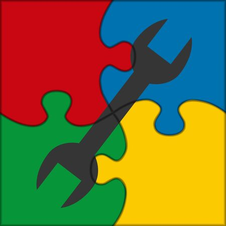squeezed: puzzle icon wrench