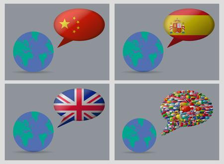 spanish landscapes: world 4 languages backgrounds