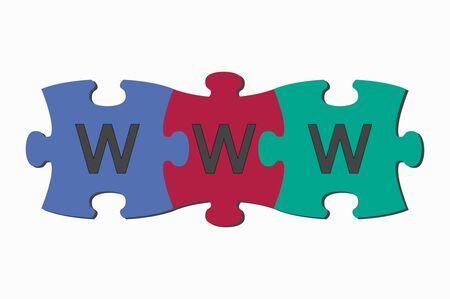word www: word puzzle pieces www